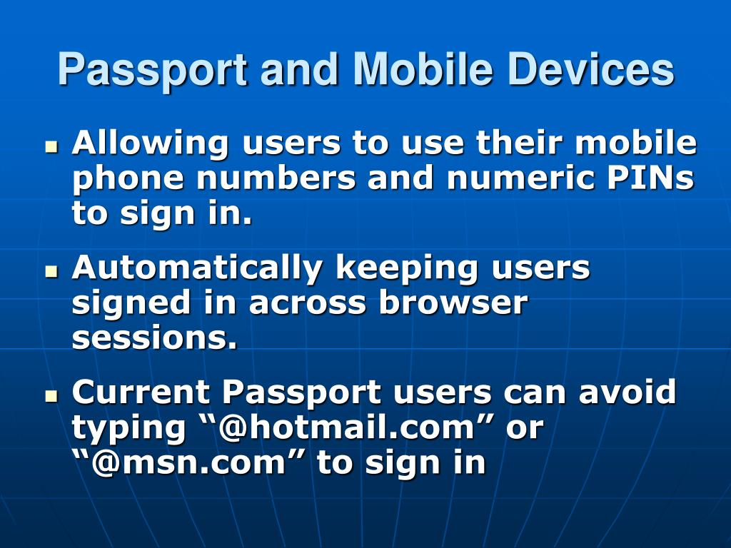 Passport and Mobile Devices