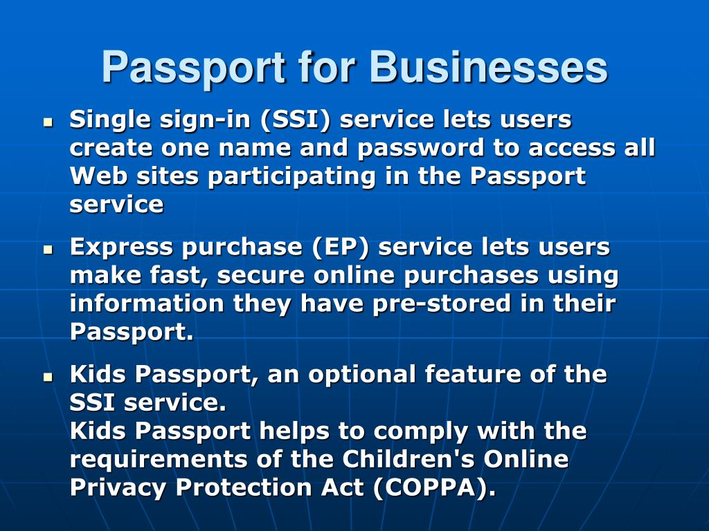 Passport for Businesses