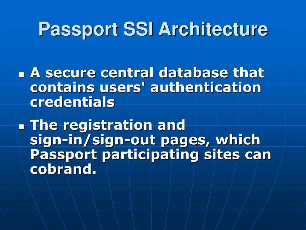 Passport SSI Architecture