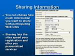 sharing information6