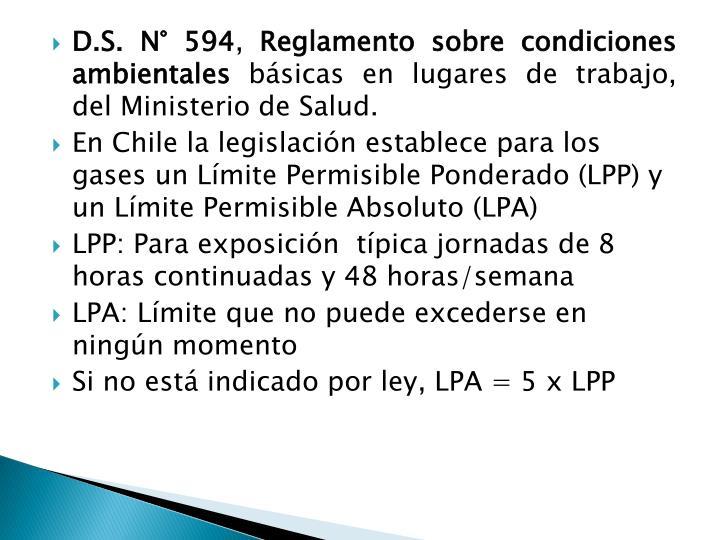 D.S. N° 594