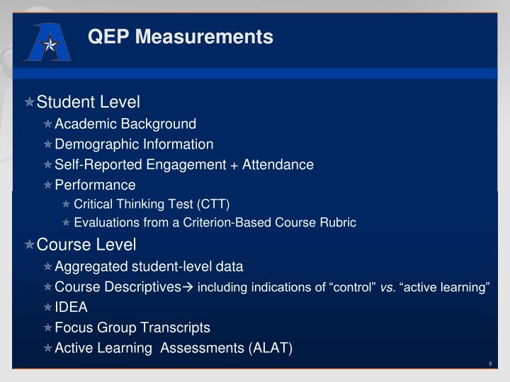 QEP Measurements