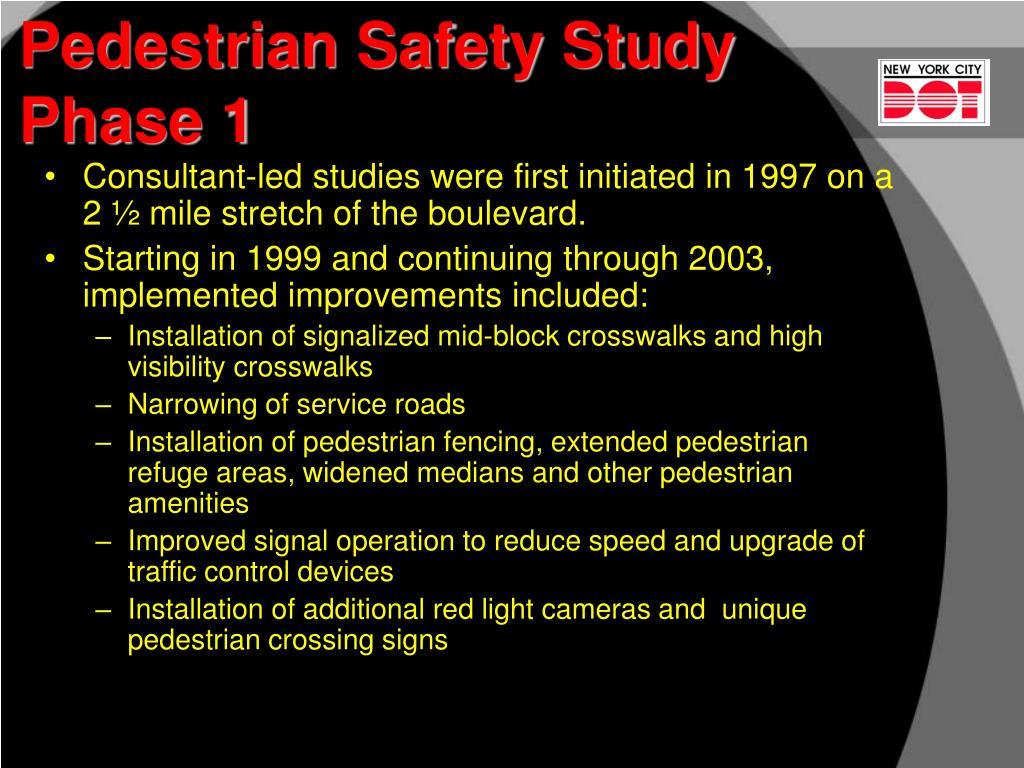 Pedestrian Safety Study