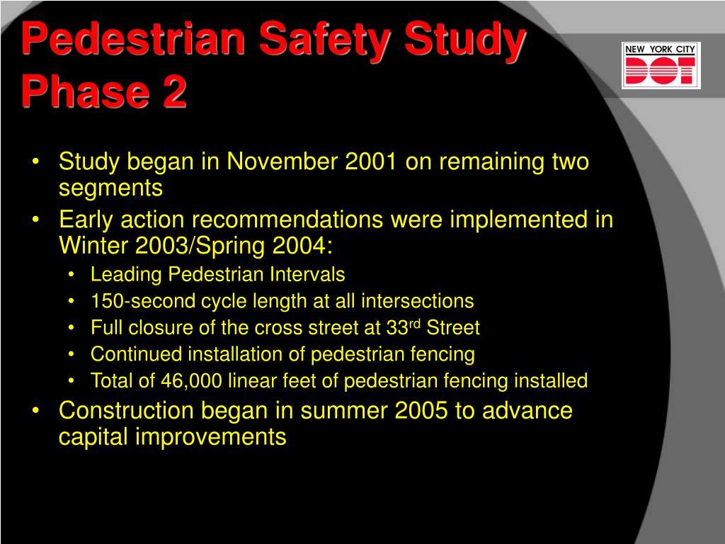 Pedestrian Safety Study  Phase 2