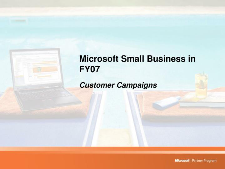 Microsoft Small Business in FY07