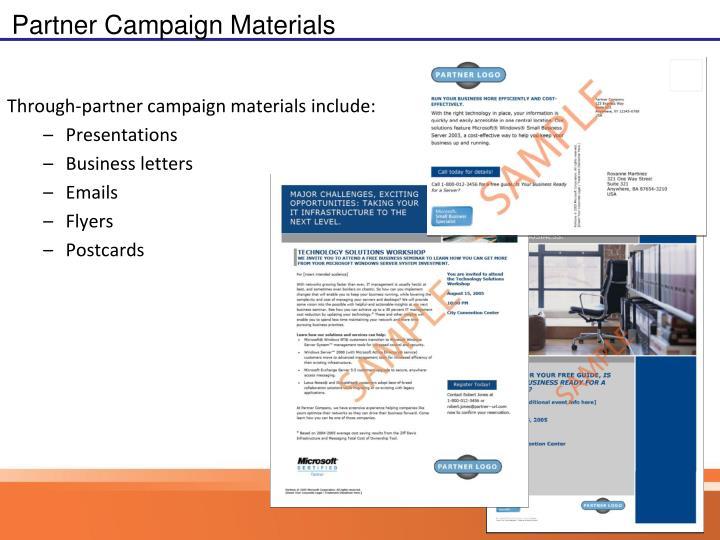 Partner Campaign Materials