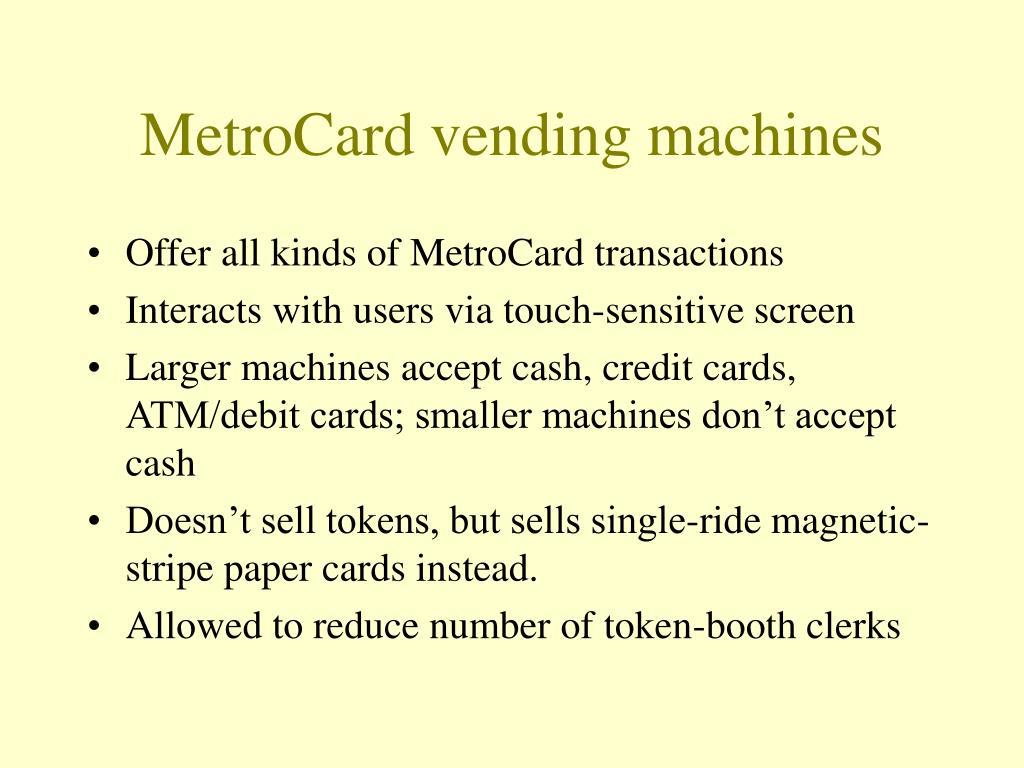 MetroCard vending machines