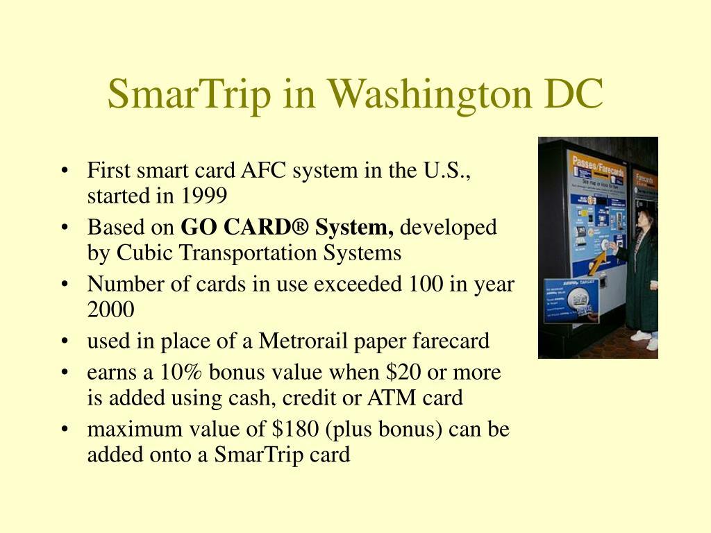 SmarTrip in Washington DC
