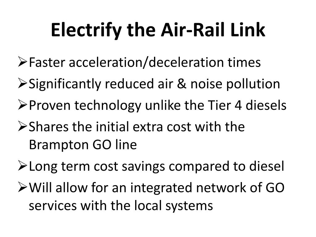 Electrify the Air-Rail Link