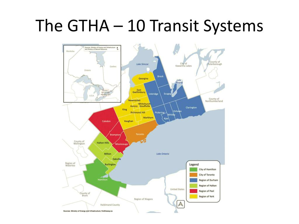 The GTHA – 10 Transit Systems