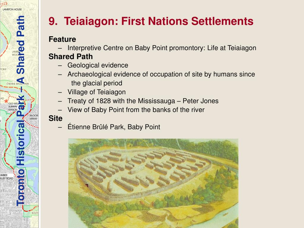 9.  Teiaiagon: First Nations Settlements