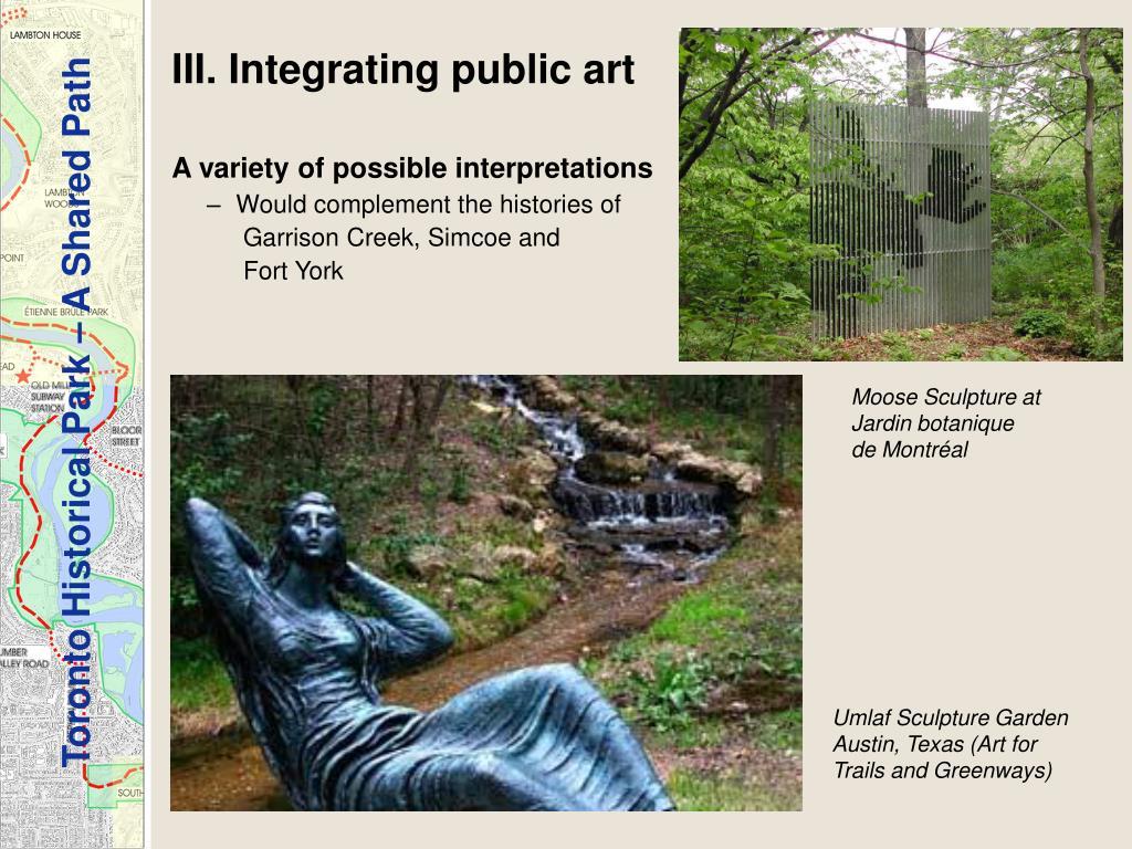 III. Integrating public art