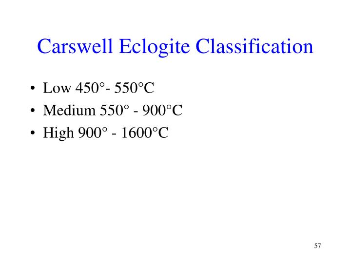Carswell Eclogite Classification