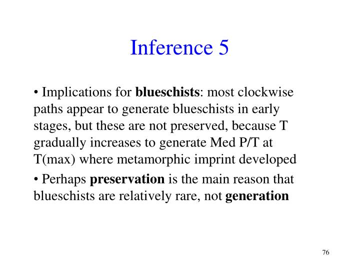 Inference 5
