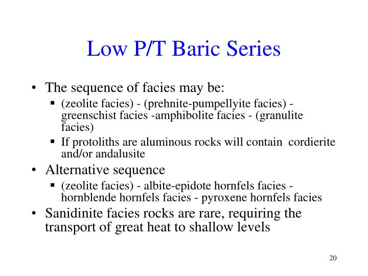 Low P/T Baric Series