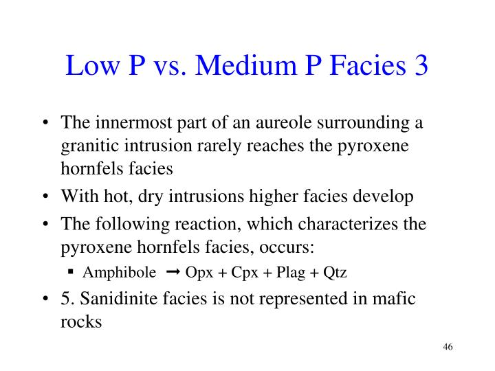 Low P vs. Medium P Facies 3