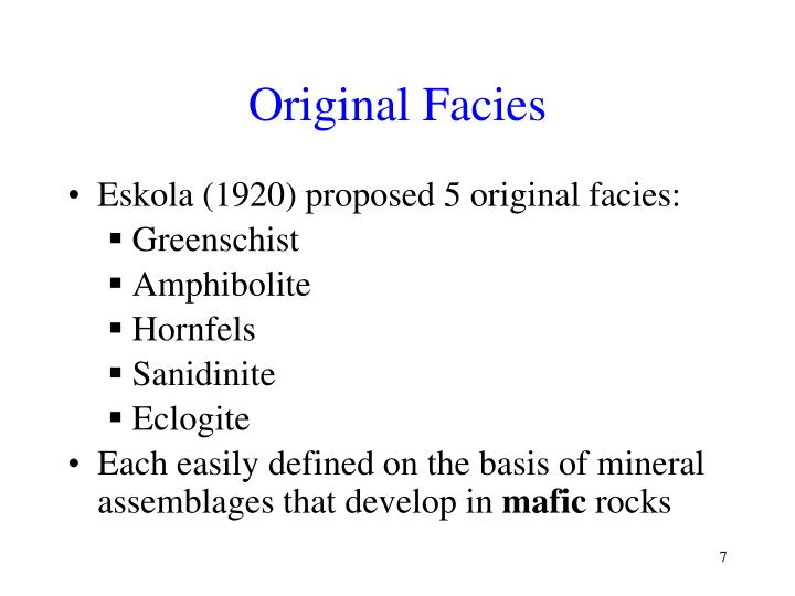 Original Facies