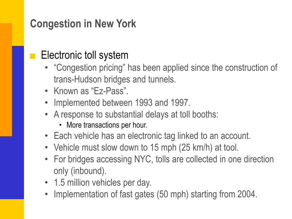 Congestion in New York