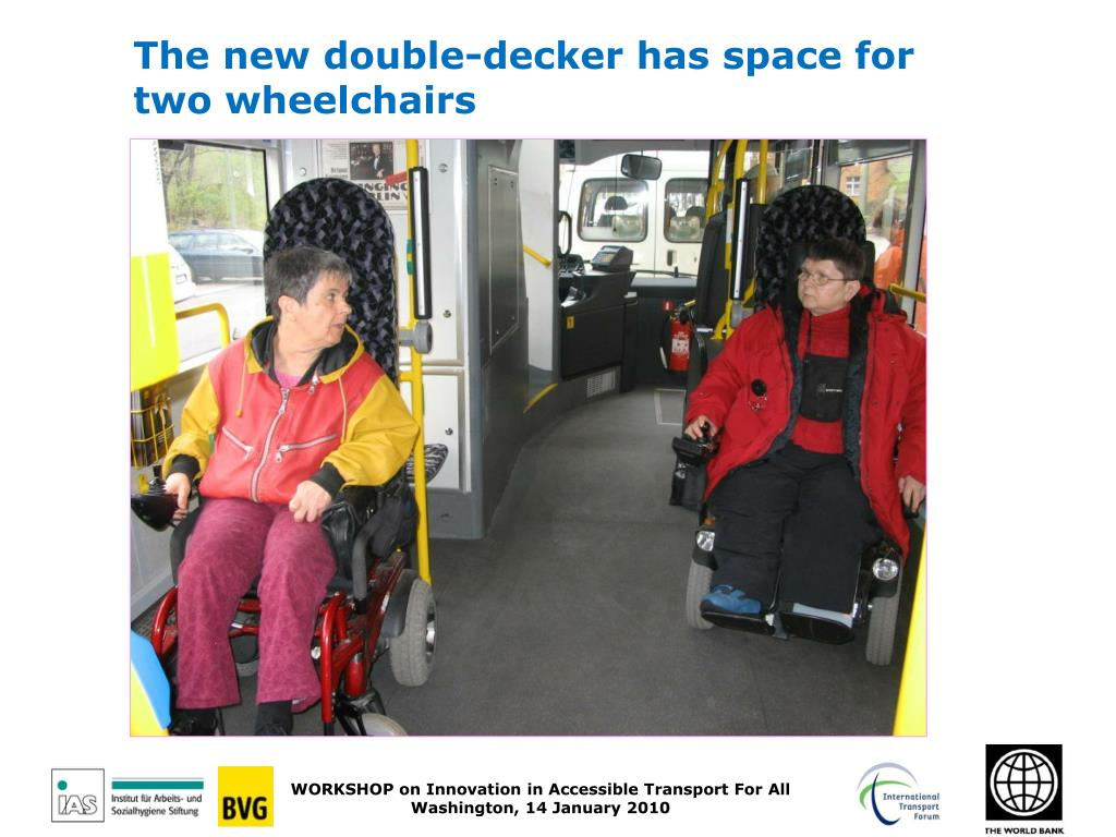 The new double-decker has space for two wheelchairs