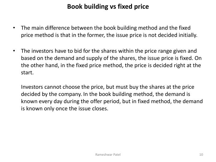 Ppt entry norms for ipo fpo powerpoint presentation for Fixed price house build