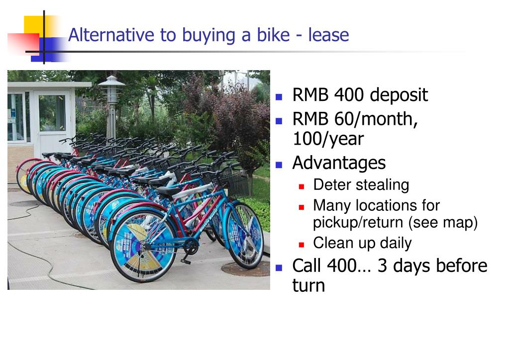 Alternative to buying a bike - lease