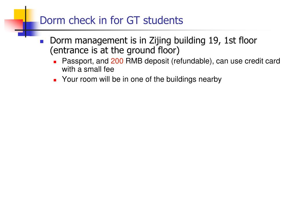 Dorm check in for GT students