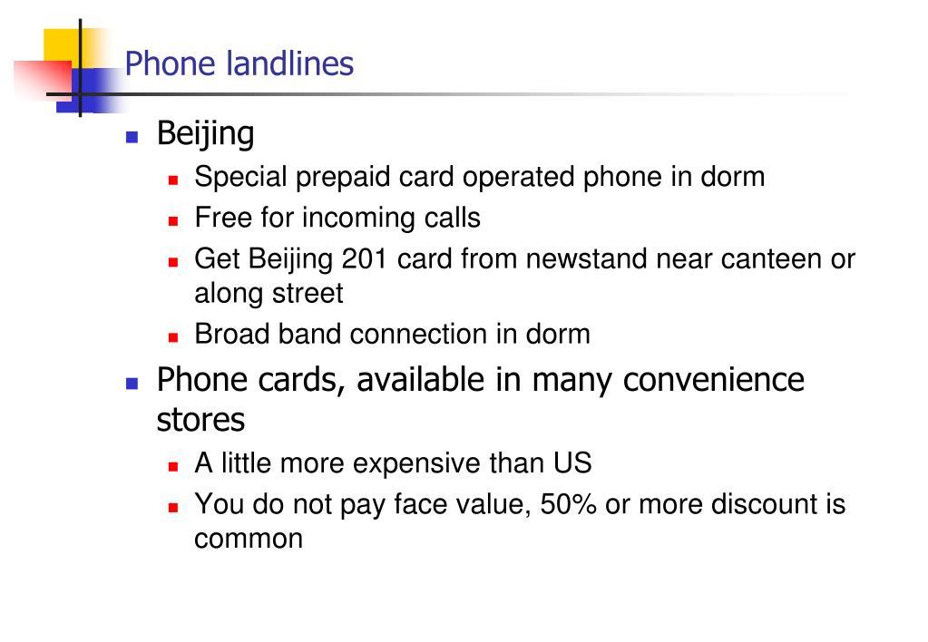 Phone landlines