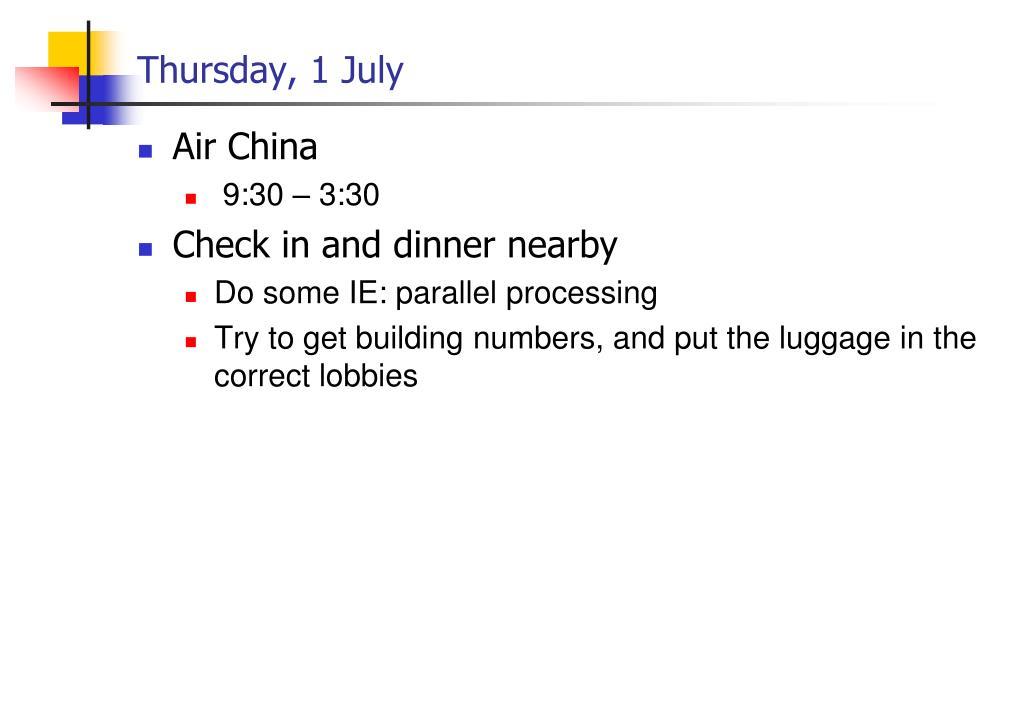 Thursday, 1 July