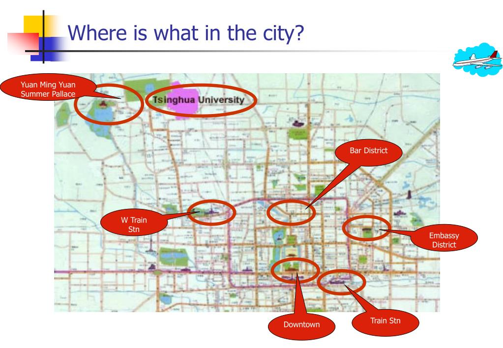 Where is what in the city?