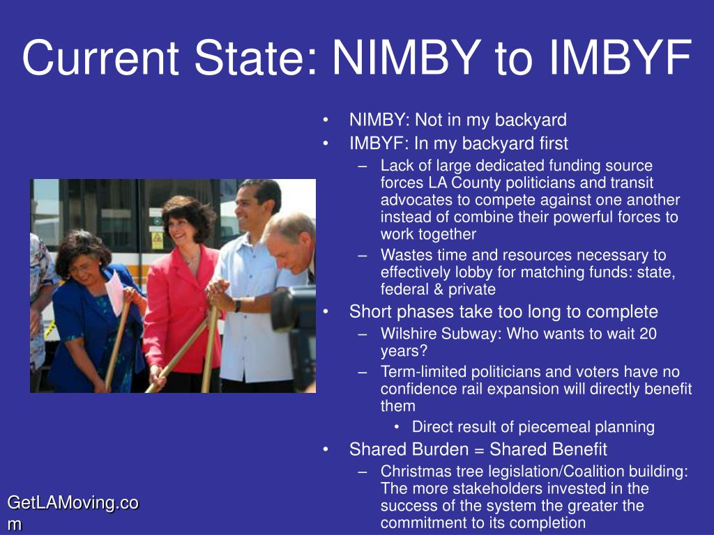 Current State: NIMBY to IMBYF