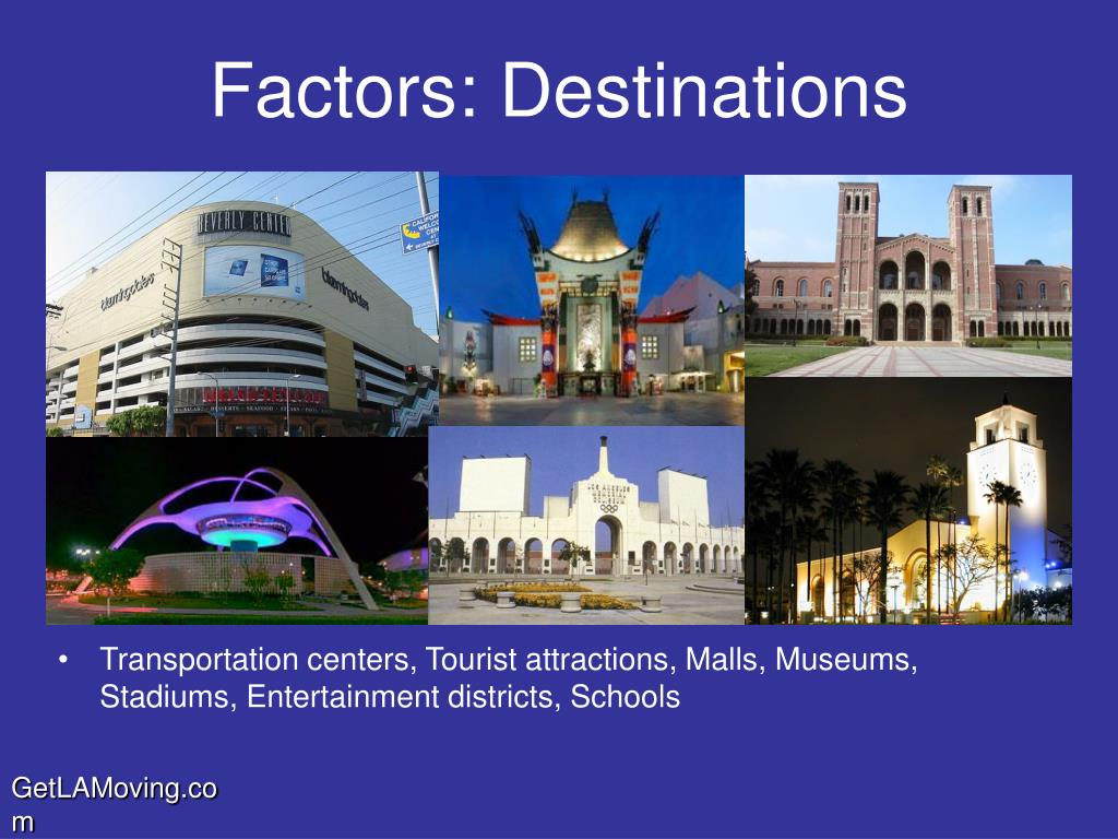 Factors: Destinations
