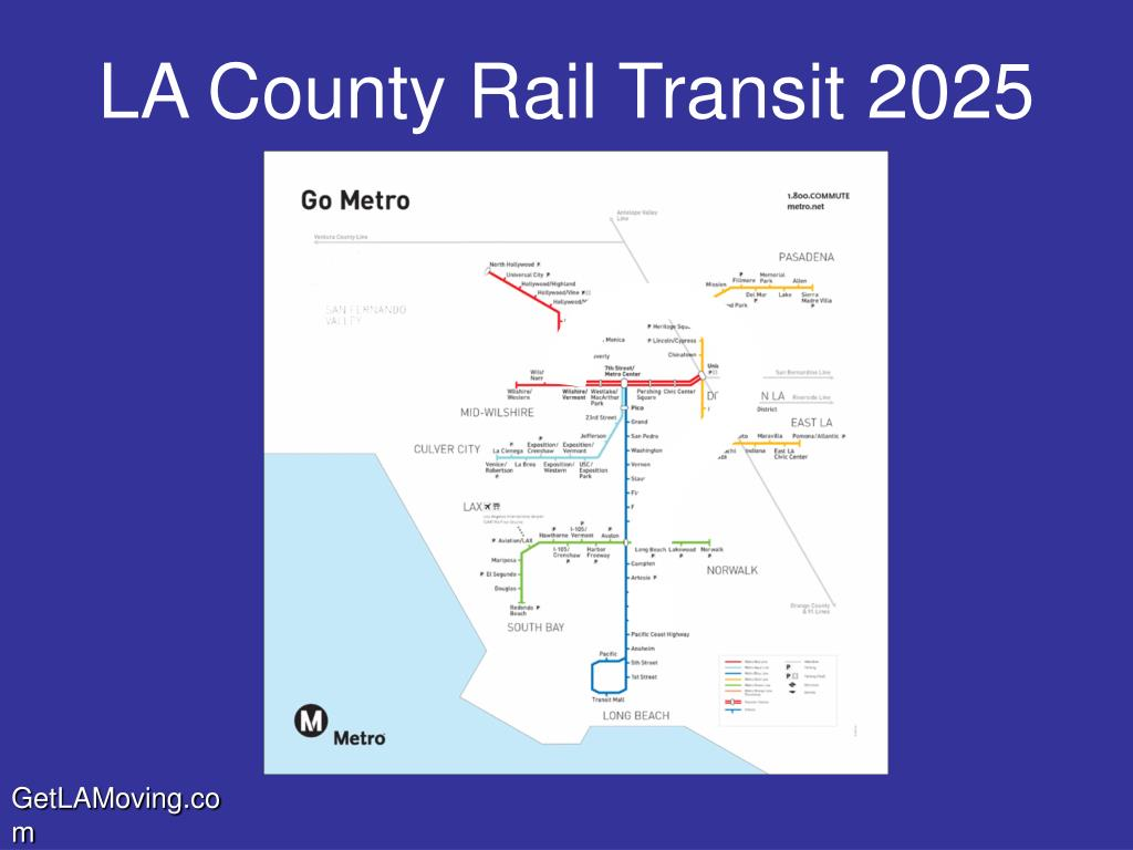 LA County Rail Transit 2025