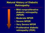 natural history of diabetic retinopathy