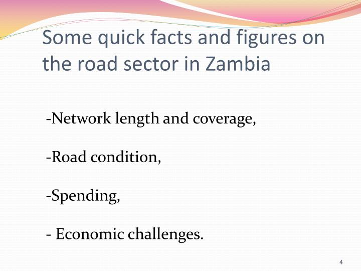 Some quick facts and figures on the road sector in Zambia