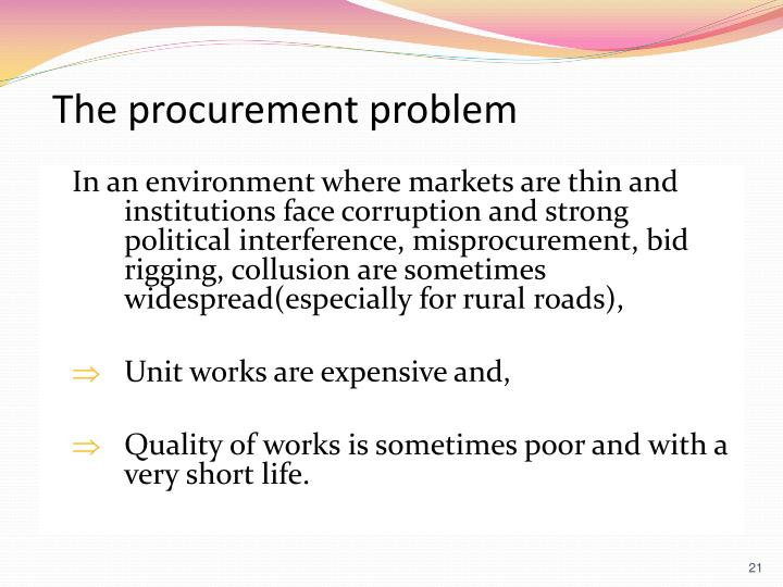 The procurement problem