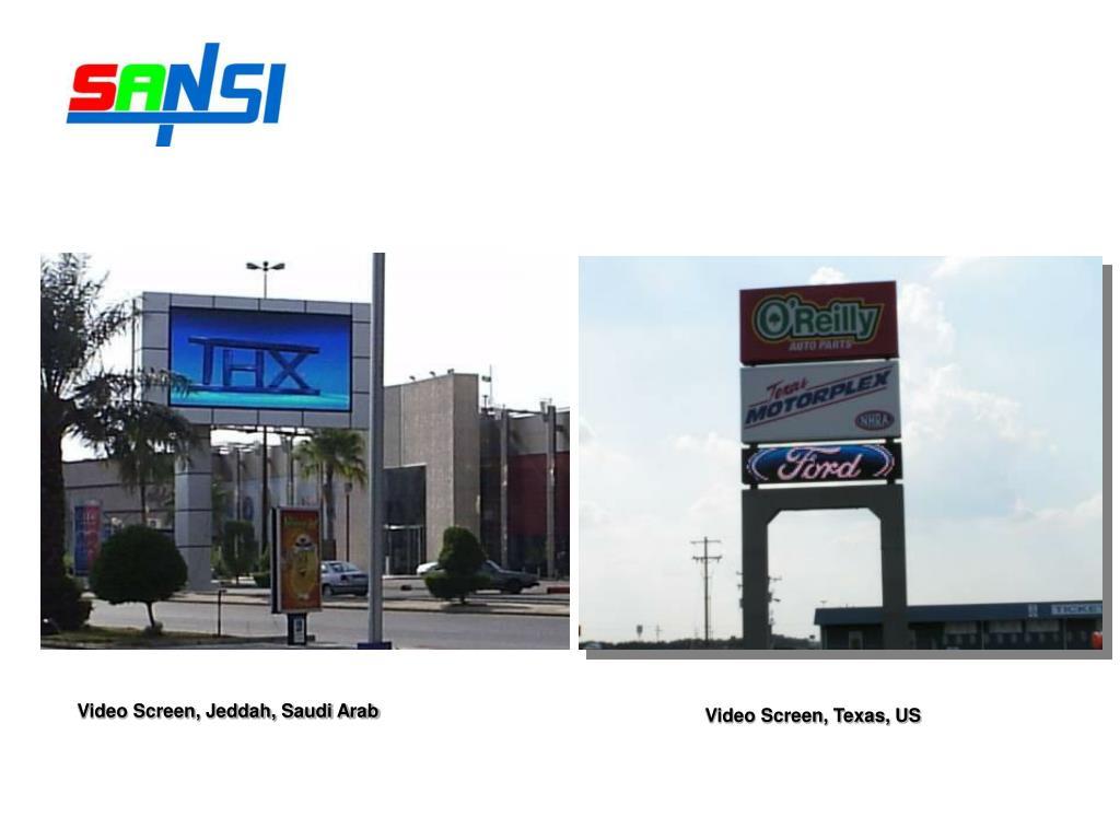 Video Screen, Jeddah, Saudi Arab