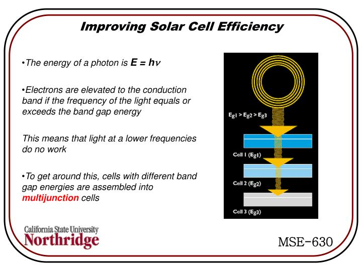 Improving Solar Cell Efficiency