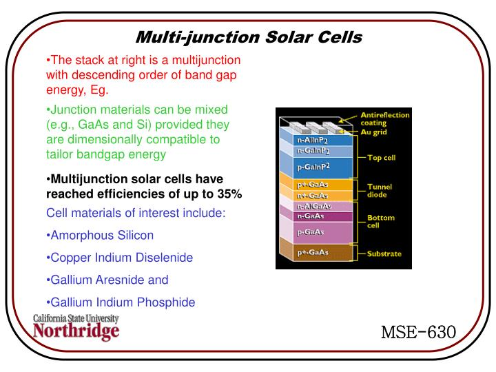 Multi-junction Solar Cells