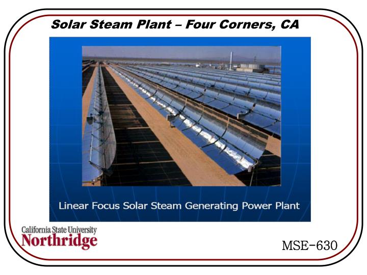 Solar Steam Plant – Four Corners, CA