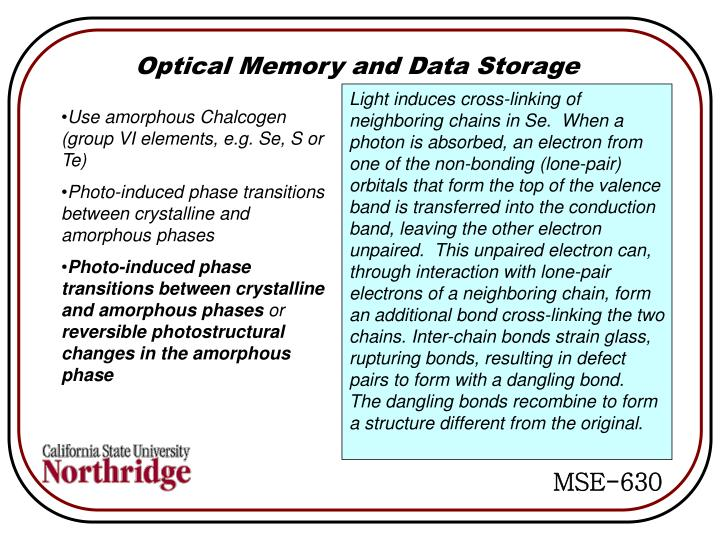 Optical Memory and Data Storage