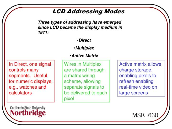LCD Addressing Modes