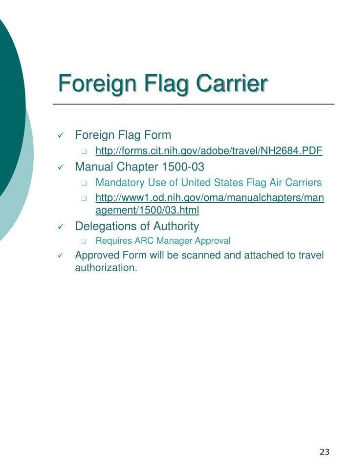 Foreign Flag Carrier