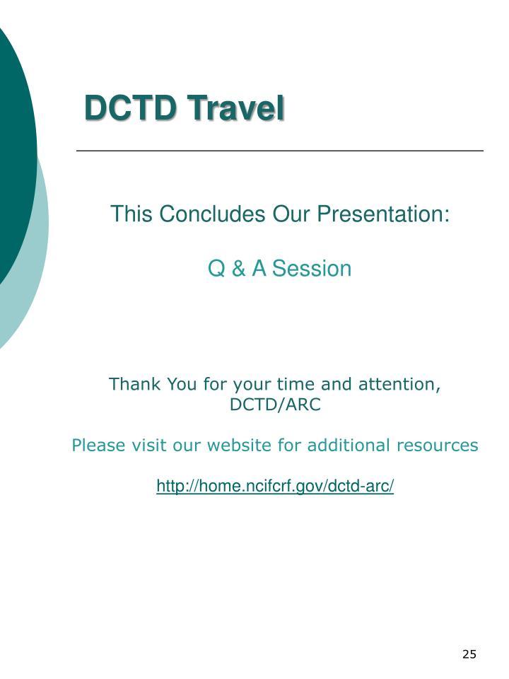 DCTD Travel