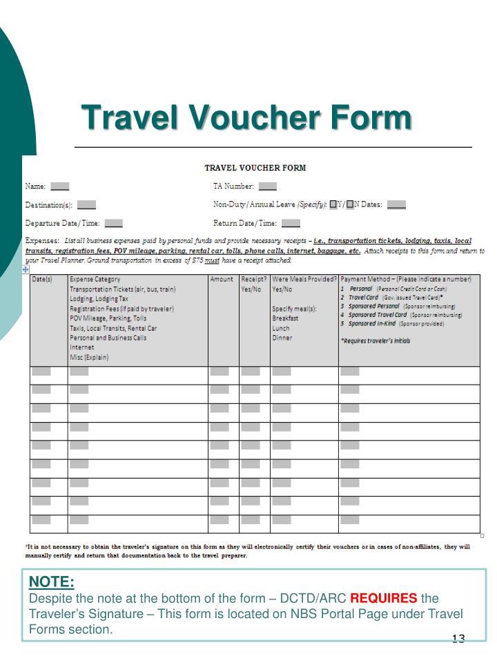 Travel Voucher Form