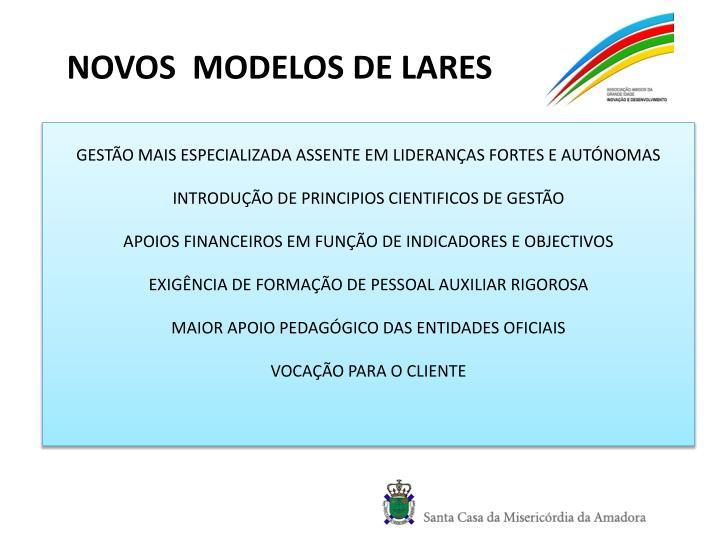 NOVOS  MODELOS DE LARES