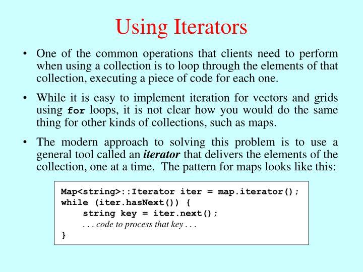 Map<string>::Iterator iter = map.iterator();