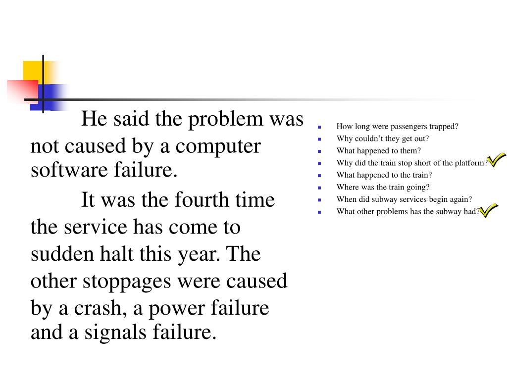 He said the problem was not caused by a computer software failure.