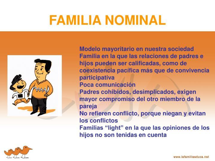 FAMILIA NOMINAL
