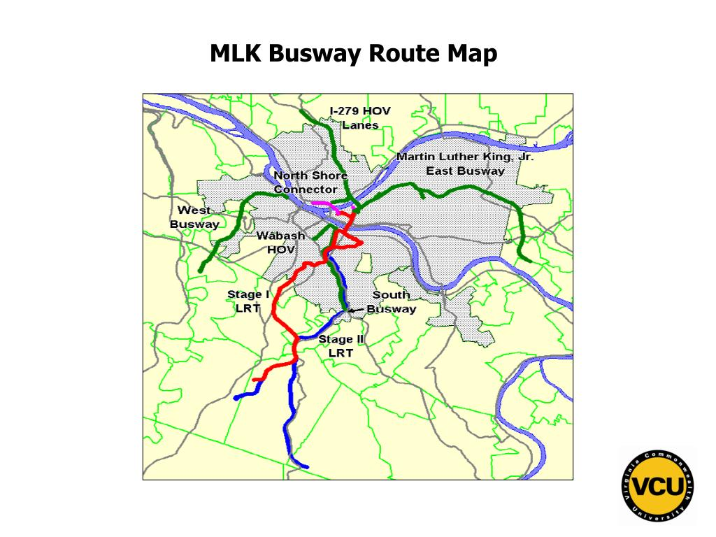 MLK Busway Route Map