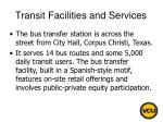 transit facilities and services13